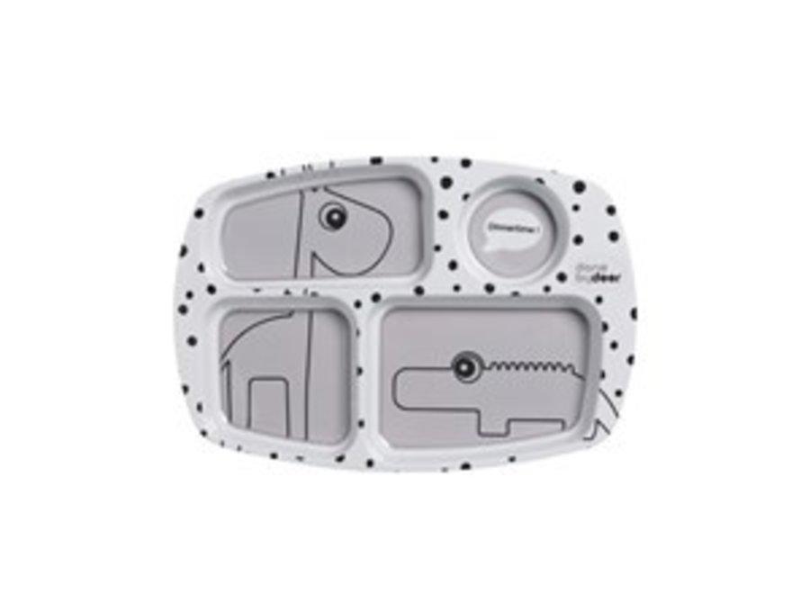 Compartimenten Bord Happy Dots Grey