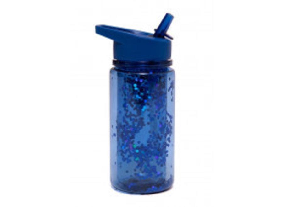 Drinkfles Glitter Blue