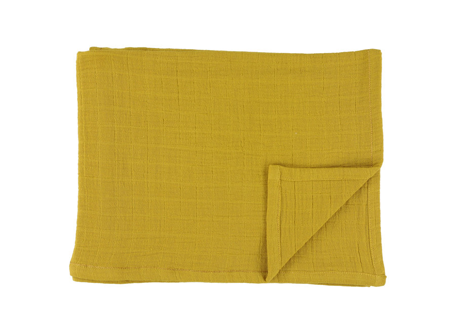 Hydrofiele doek 110x110cm 2stuks - Bliss Mustard