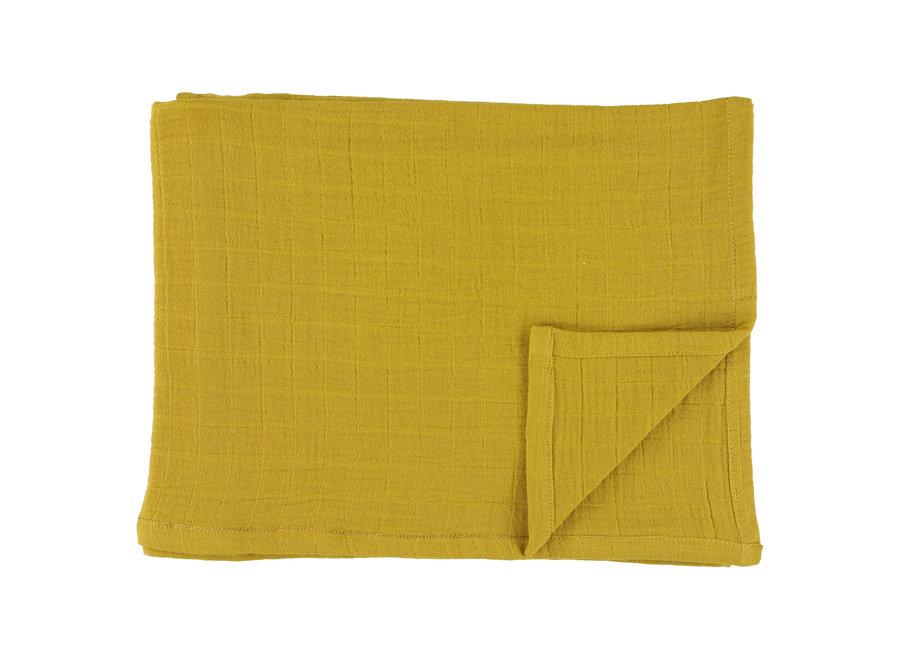 Hydrofiele doek 110x110cm  - Bliss Mustard