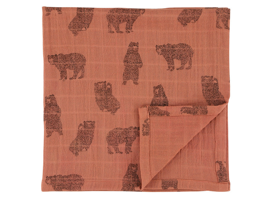 Hydrofiel doek 110x110 cm 2stuks - Brave Bear