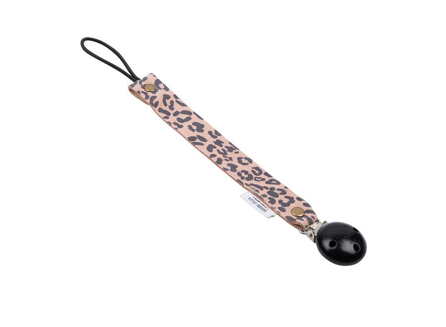 Speenkoord - Leopard Small Roze