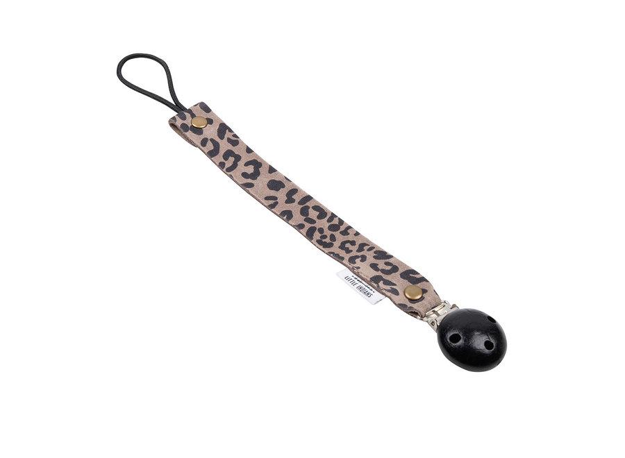 Speenkoord - Leopard Small Grijs