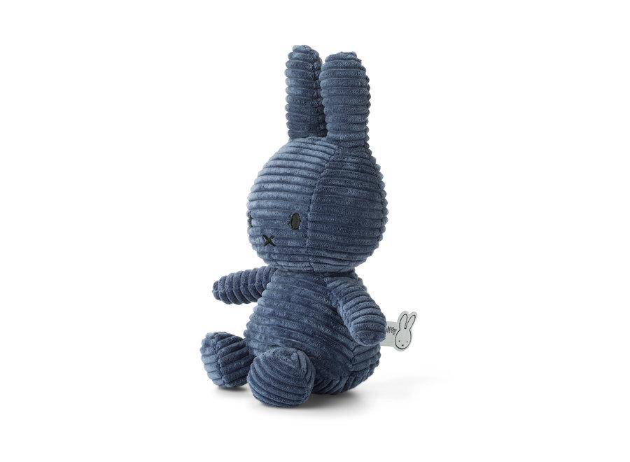 Miffy Sitting Corduroy Blue - 23 cm