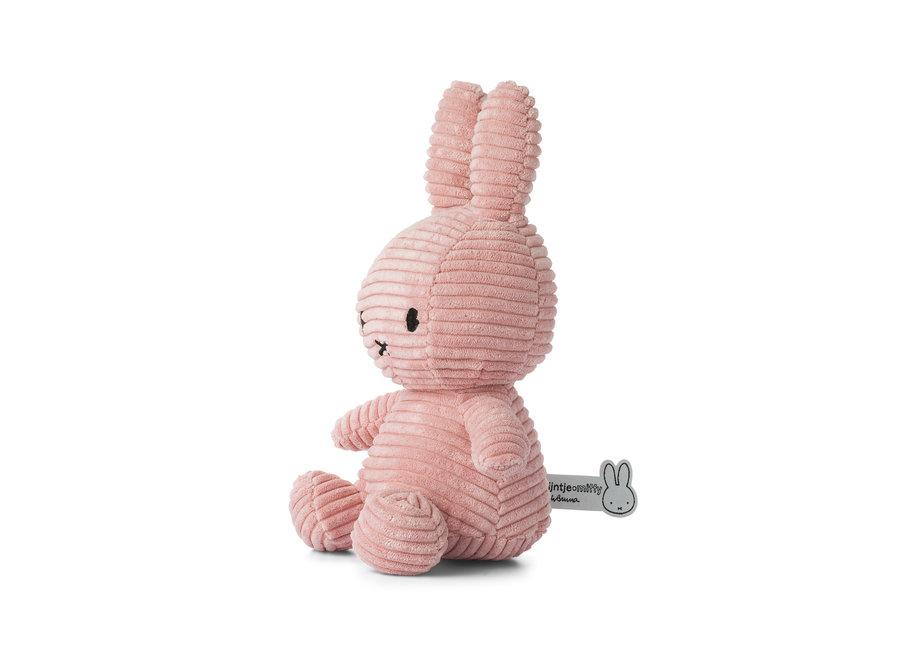 Miffy Sitting Corduroy Pink - 23 cm