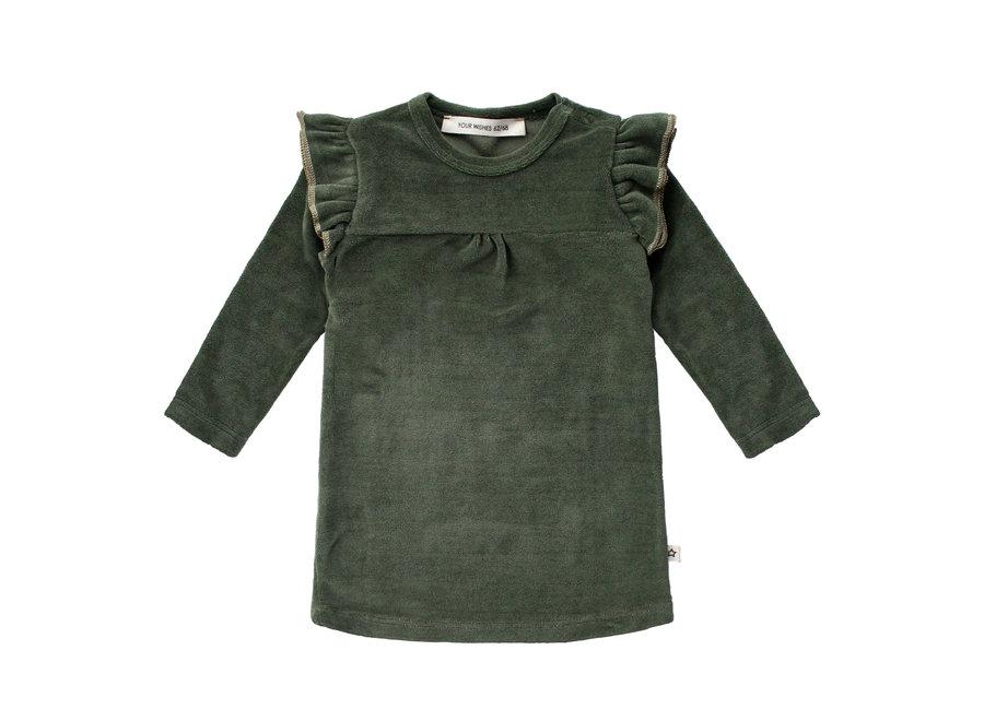 Ruffle Sweater Dress - Velvet