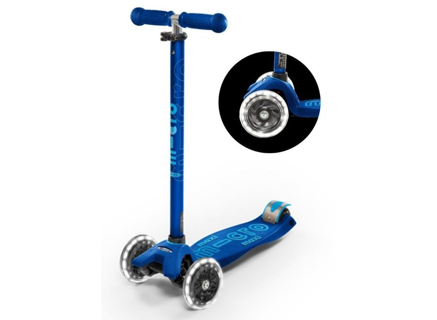 Maxi Micro step Deluxe LED - marineblauw