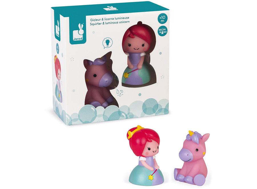 Badspeelgoed - Prinses en Lichtgevende Eenhoorn