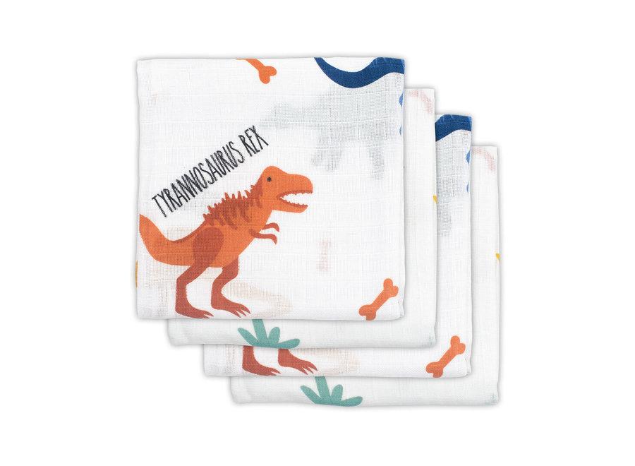 Hydrofiel doek 70x70 4st - Dinosaurus