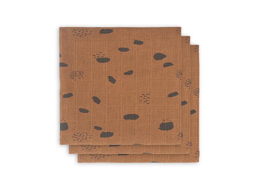 Hydrofiel doek 70x70 (3st) - Spot Caramel