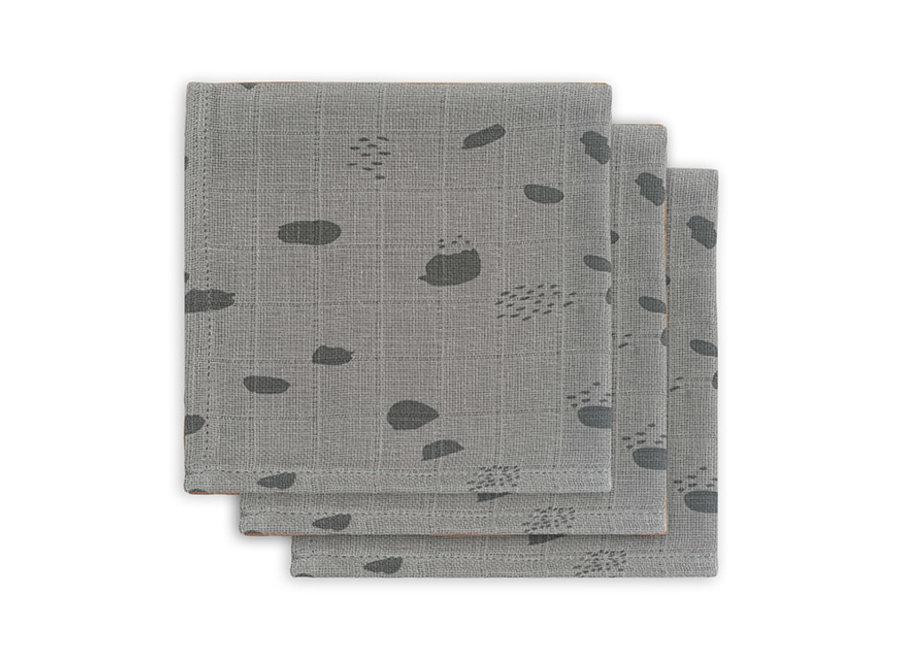 Monddoekje Hydrofiel 3pack - Storm grey