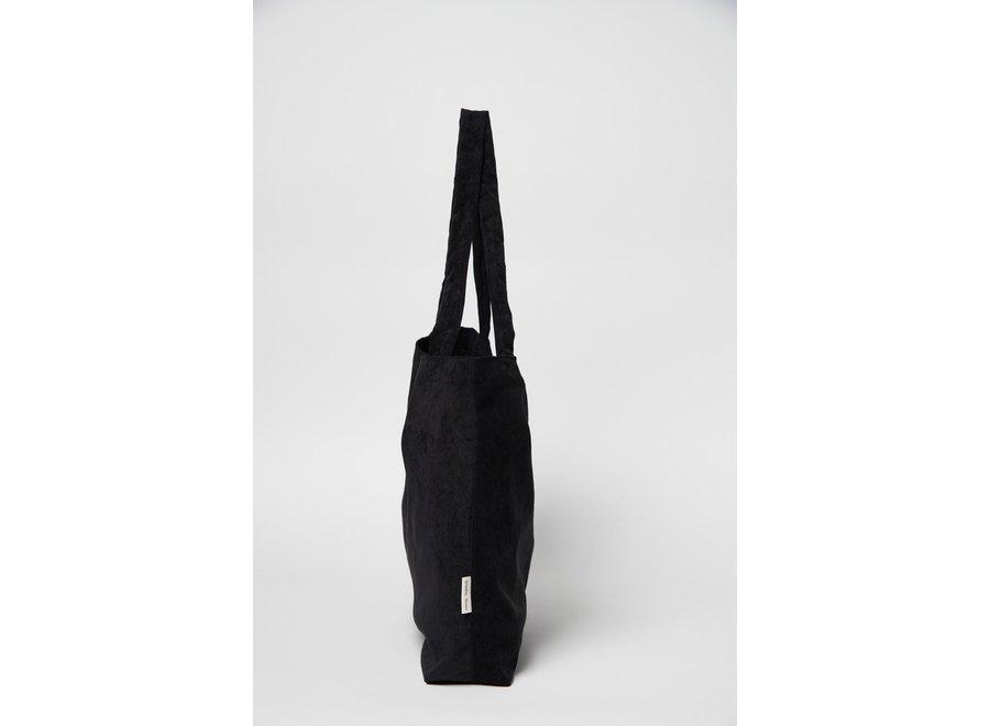 All black rib mom-bag