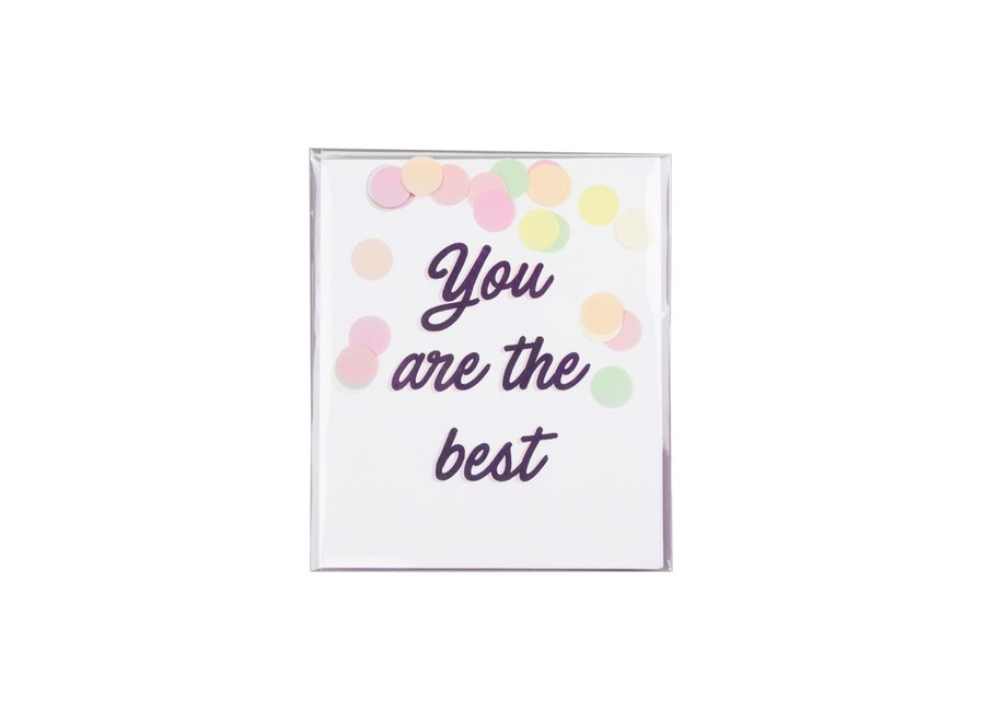 Confetti kaart - You are the best