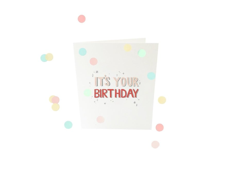 Coneffti kaart - It's your birthday