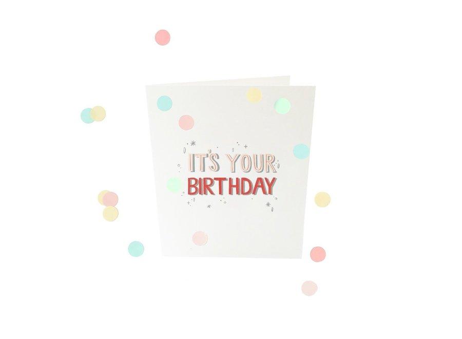 Confetti card - It's your birthday
