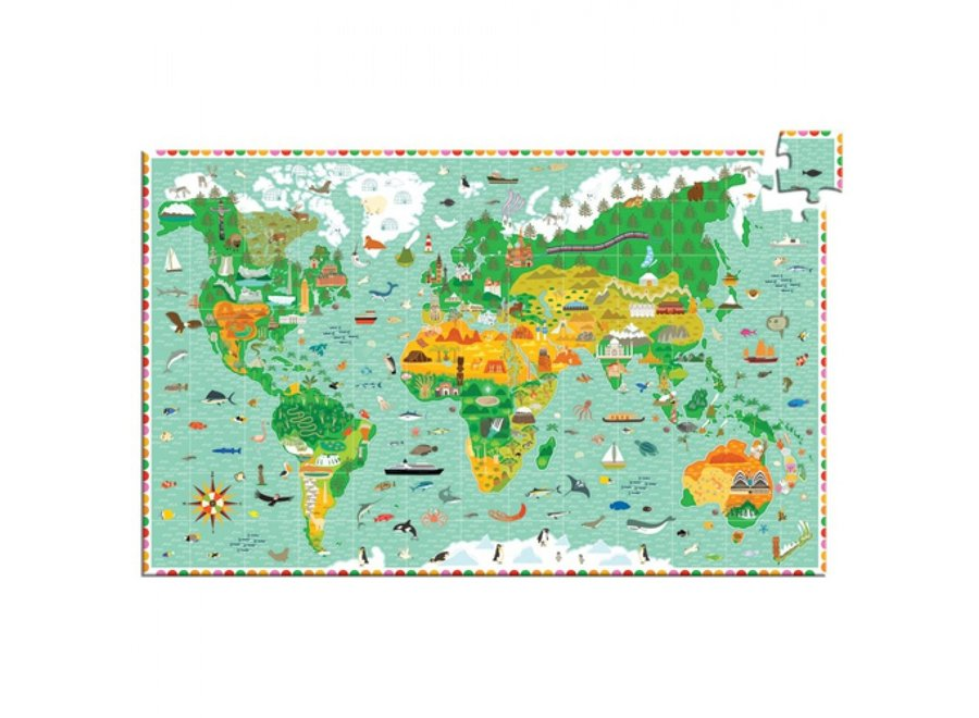 Puzzel - Werelddelen 200st