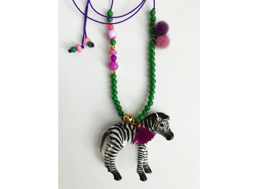 Dierenketting Meisje Zebra