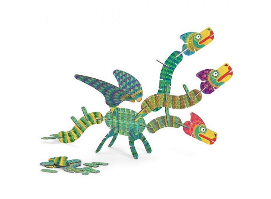 Puzzel - 3d Draken