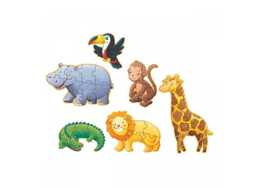 Puzzel - Safari Dieren 6-1