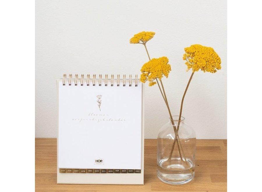 Verjaardagskalender bloemen