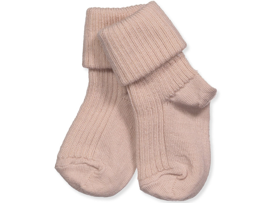 Cotton Rib Baby Socks - Rose