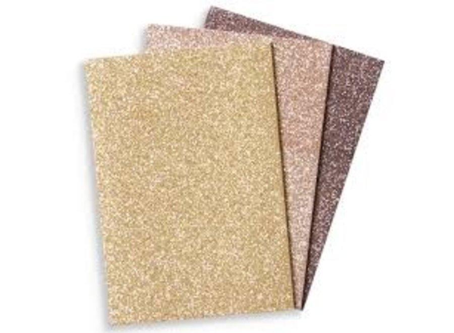 Glitter Notebook - Gold &Bronze