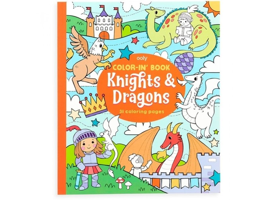 Kleurboek - Ridders & Draken