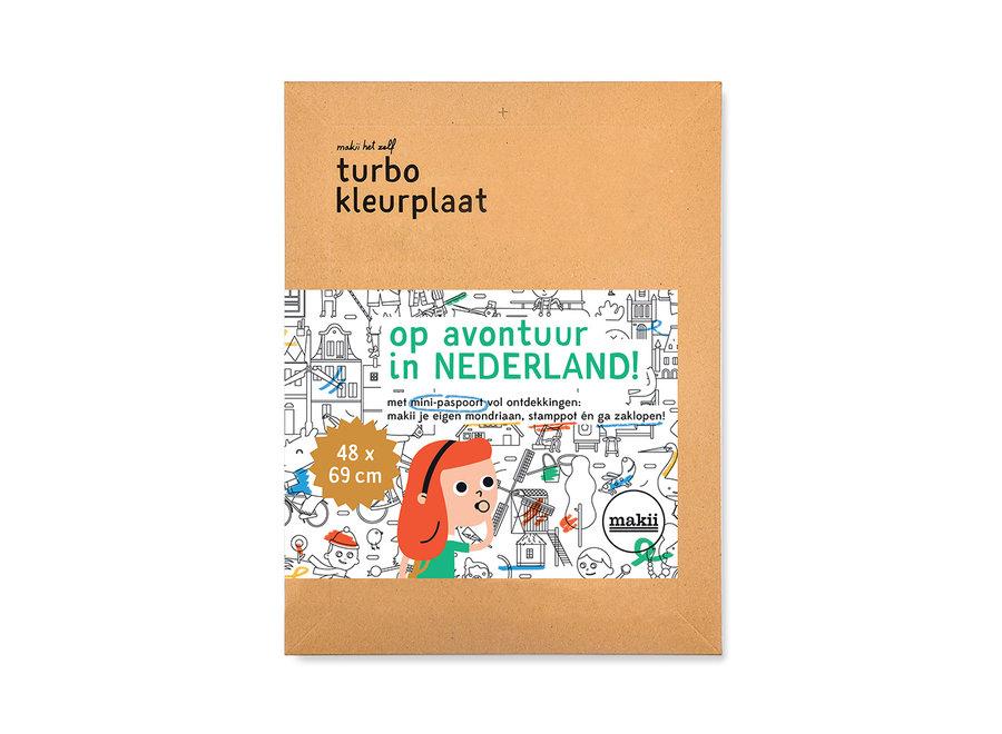 Turbo kleurplaat - Nederland
