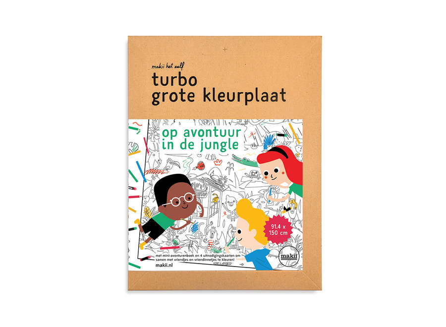 Turbo kleurplaat - Jungle