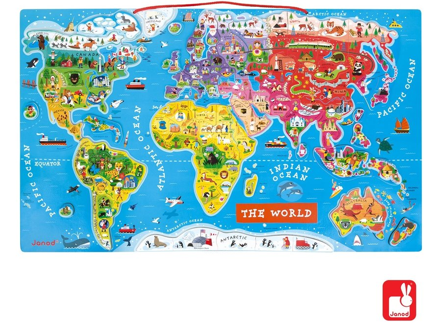 Magneetbord - De Wereld (ENG)