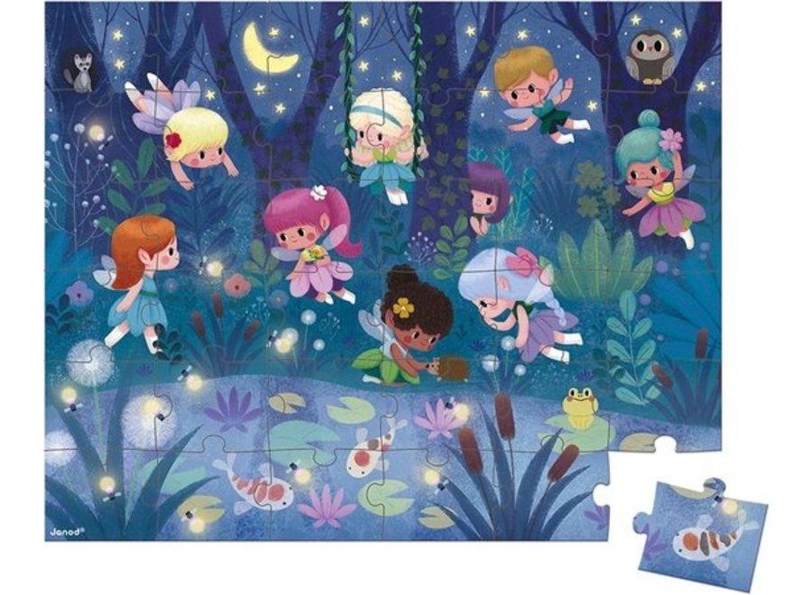 Puzzel - Elfjes en Waterlelies