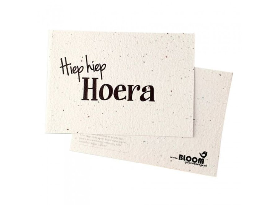 Enkele kaart - Hiep Hiep Hoera