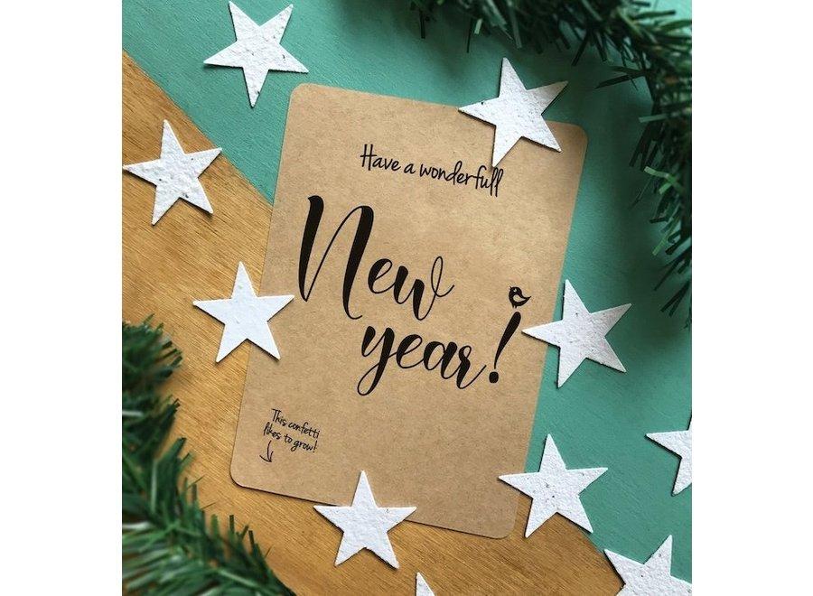 Groeiende confetti-kaarten - New Year