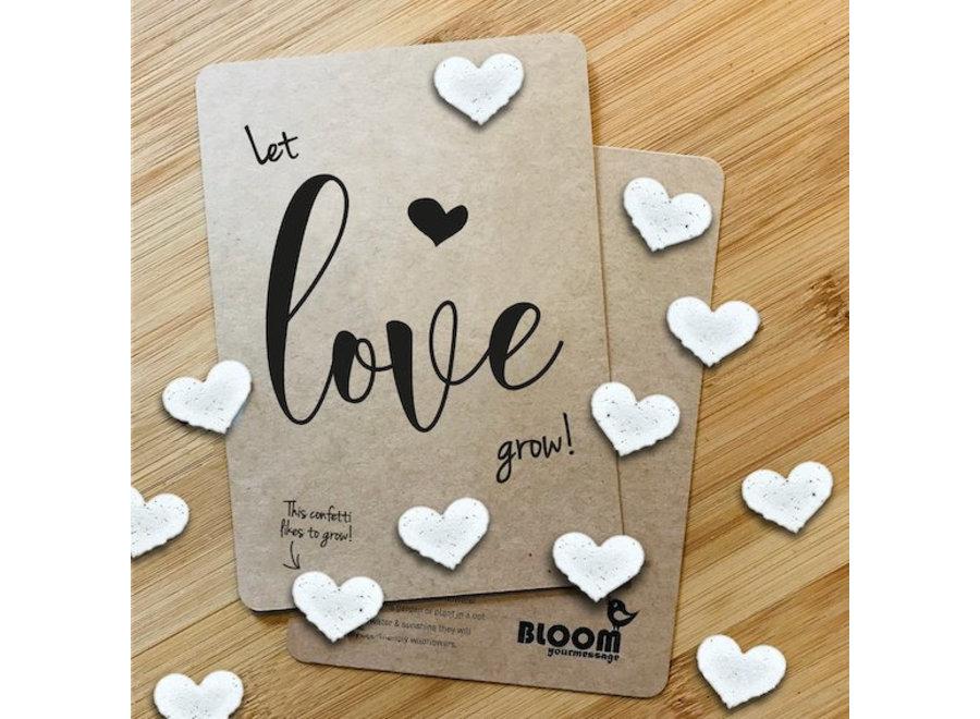 Groeiende confetti-kaarten-Let Love Grow