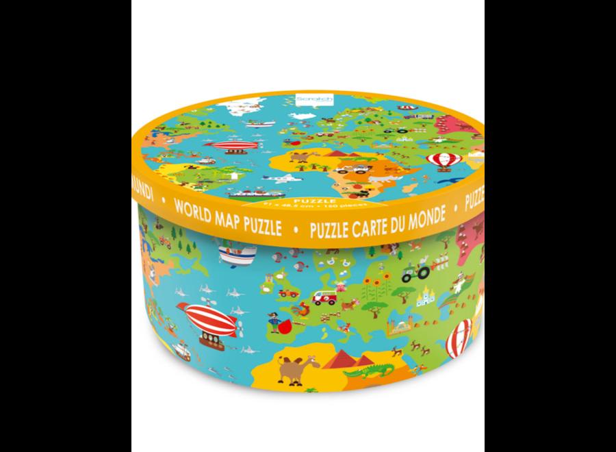 Puzzel - Wereldkaart (150st)