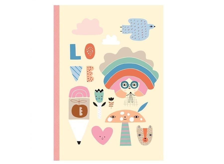 Notebook Rainbow girl