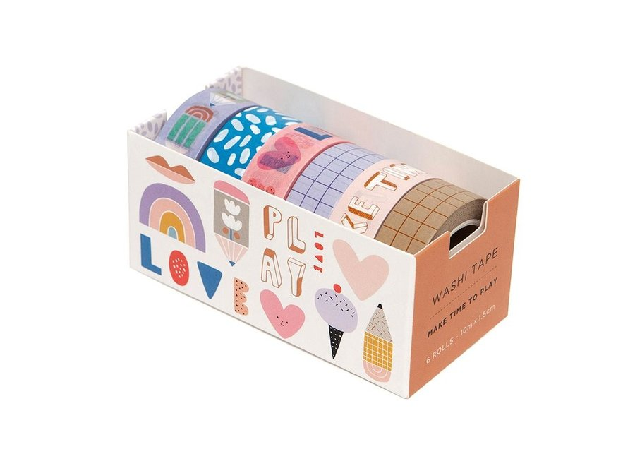 6 Washi tapes make time to play