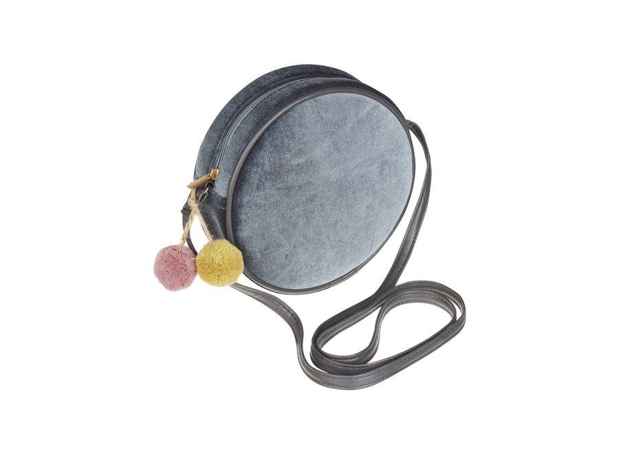 Velvet Pom Pom Bag