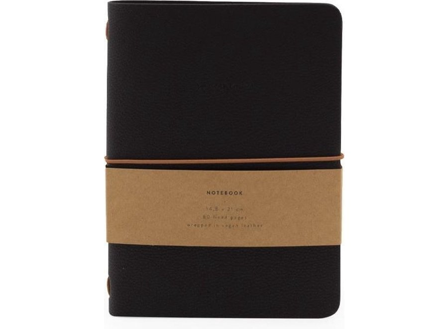 Vegan leather notebook Black