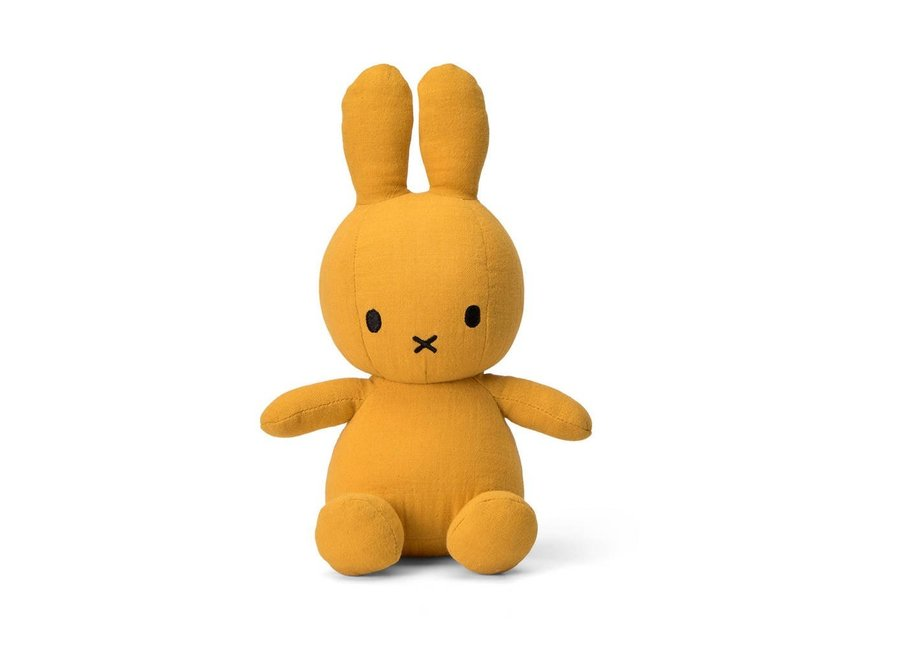 Miffy Sitting Mousseline Yellow - 23 cm