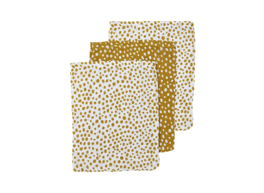 Hydrofiel washandjes (3st) - Cheetah gold