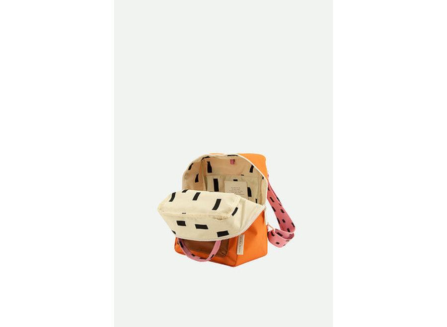 Rugtas small   Sprinkles envelope - pink,orange, brown