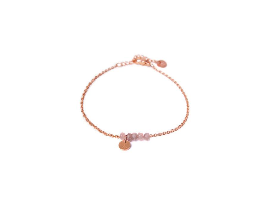 Jade pink bracelet Rosegold