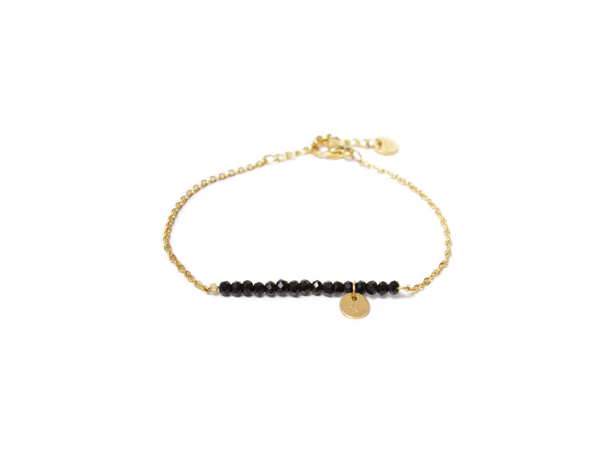 Black Stone Bracelet Gold