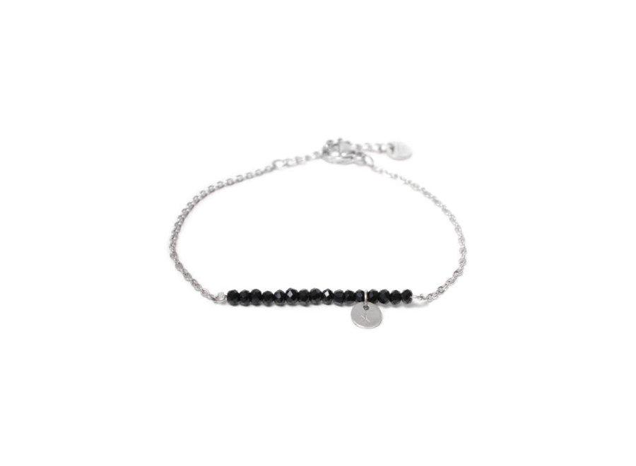 Black Stone Bracelet Silver