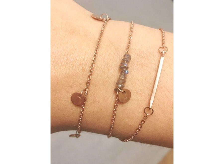Armband - Bar Bracelet Rosegold