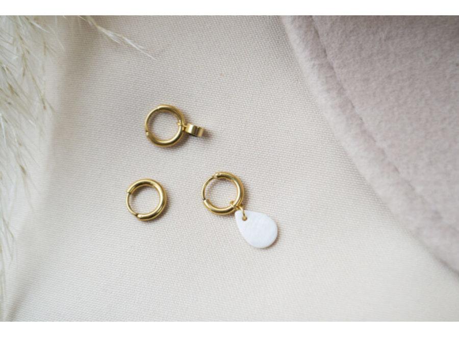 Single Shell drop hoop gold