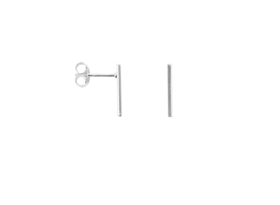 Oorbel - Bar Earring Silver