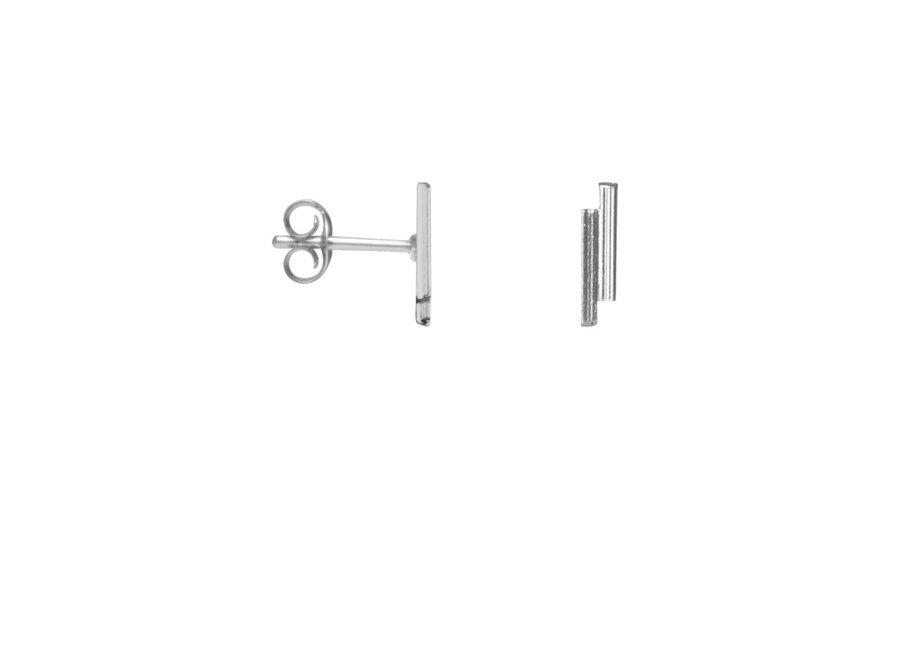 Double Bar Earring Silver