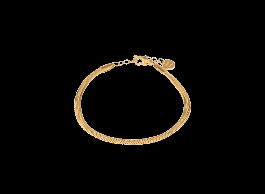 Smooth Snake Gold Bracelet